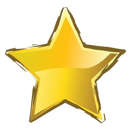 yellow star for xmas or new year Stock Photo - 4045508