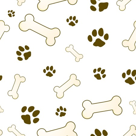 bone and paw texture in brown Stock Photo