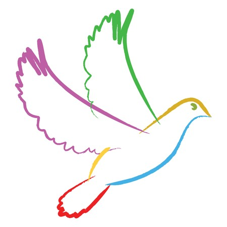 color dove for peace or xmas season photo
