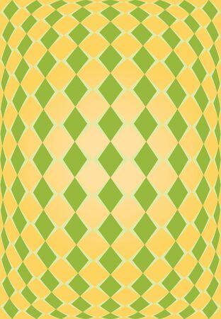 orange and green rhombus texture diamonds photo