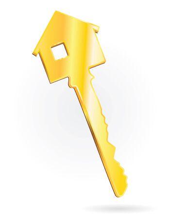 house golden key vertical mode Stock Photo - 4098629