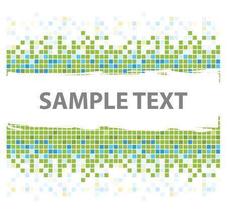 squares mosaic texture green tones Stock Photo - 4098646