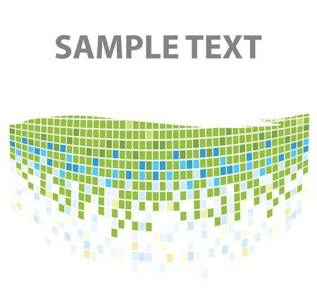 squares mosaic texture green tones Stock Photo - 4098644