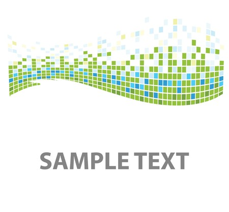 squares mosaic texture green tones  Banco de Imagens