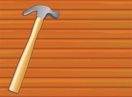 hammer on wood texture for background photo