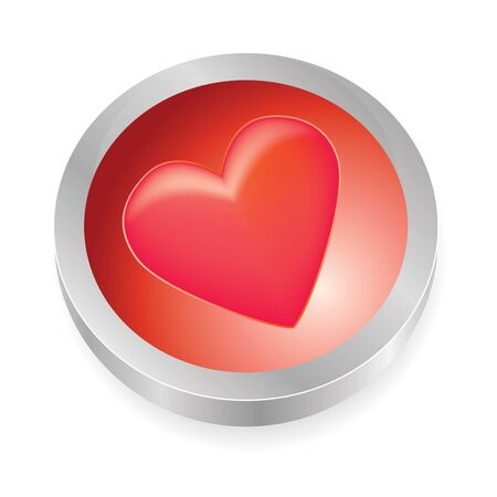 love button in red tones photo