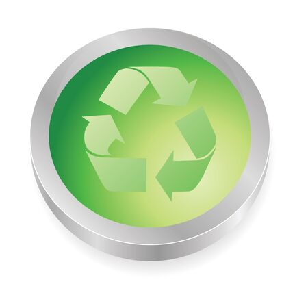 recycle button in green colors photo