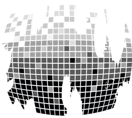 squares texture mono drops white photo