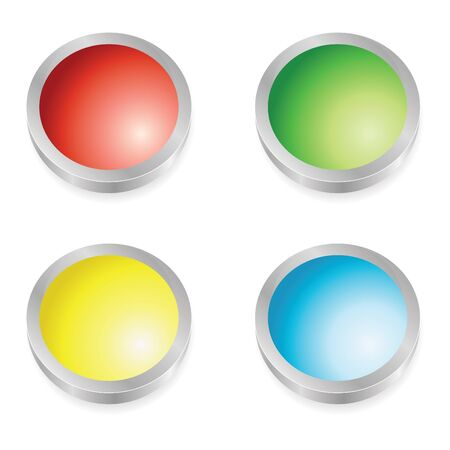 set of web buttons in colors Stock Photo - 4128439