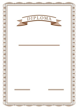 diploma in vector mode in sepia color Stock Photo - 4153545