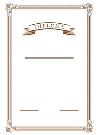 diploma in vector mode in sepia color   photo