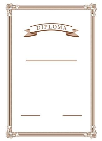 diploma in vector mode in sepia color Zdjęcie Seryjne - 4153544