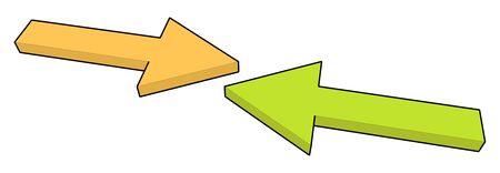 arrow reflect in vector mode Stock Photo - 4236413