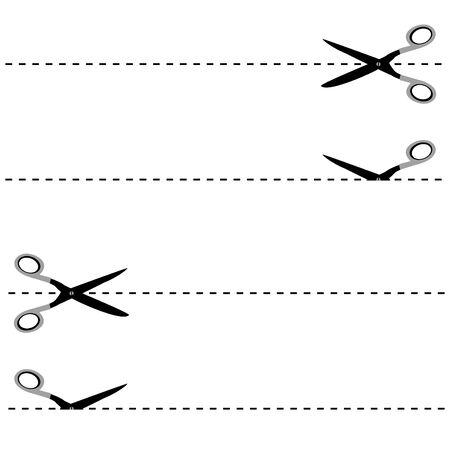 reflect: Scissors cut lines in reflect