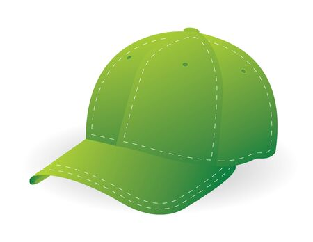 green cap in vector mode photo
