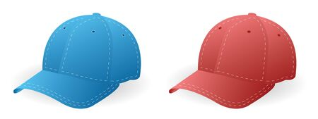 caps blue and red in vector mode Stock Photo - 4236411