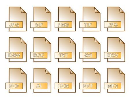jpg: computer files orange in vector mode