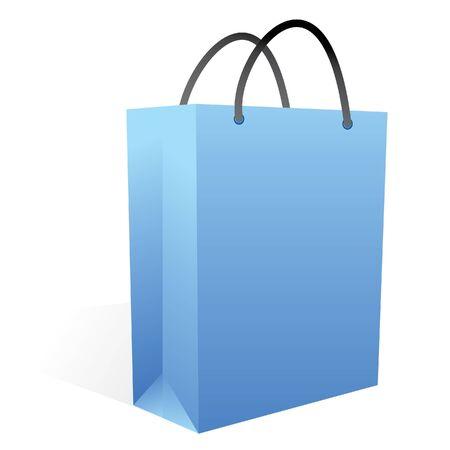 blue shopping bag in vector mode photo
