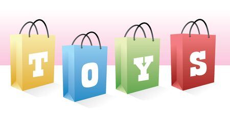 toys shopping bags for gifts photo