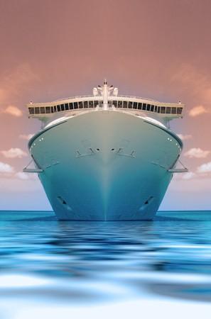 yachten: Kreuzfahrtschiff in der Karibik Ozean