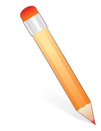 yellow pencil in vector mode photo