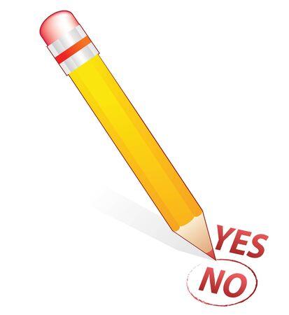 pencil choose in no word photo