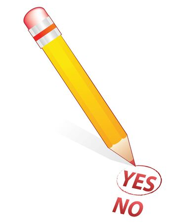 pencil choose in yes word photo
