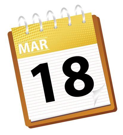 Calendario de marzo en modo vectorial Foto de archivo - 4354087
