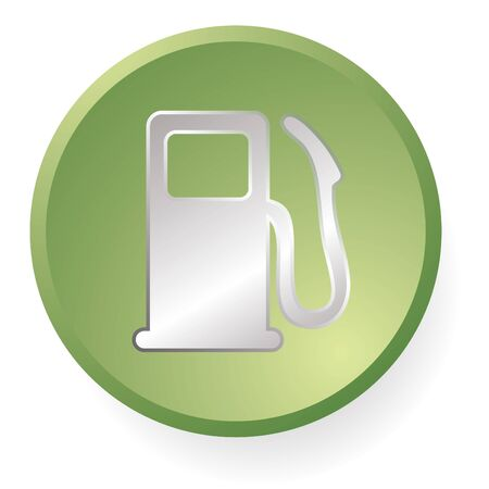 green and silver gas pump icon photo
