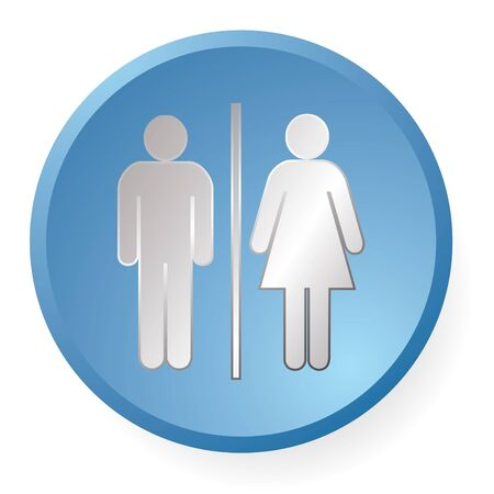 men woman icon for wc or toilet photo