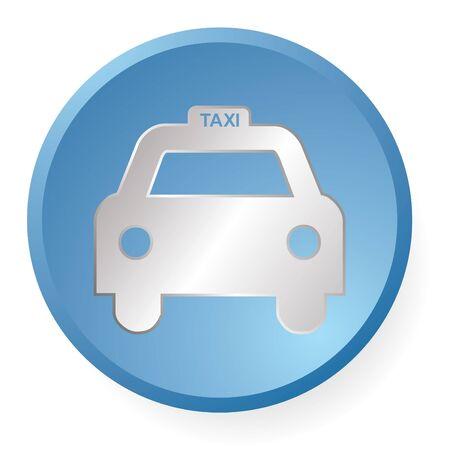 blue taxi icon en vector photo