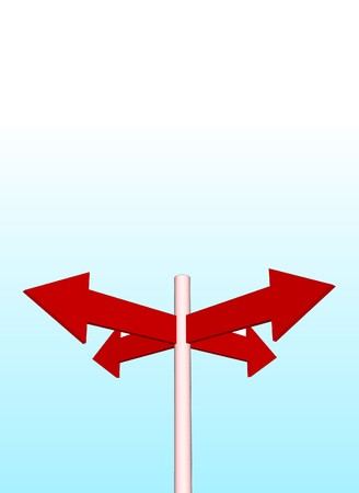 arrows and sky in vector Stock Photo - 4407791