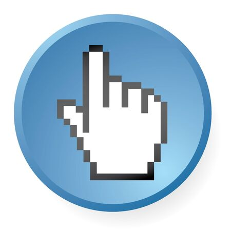 computer hand icon in vector mode photo
