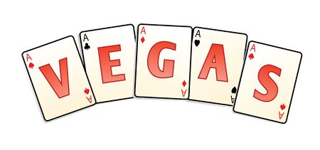 vegas cards isolated in vector photo
