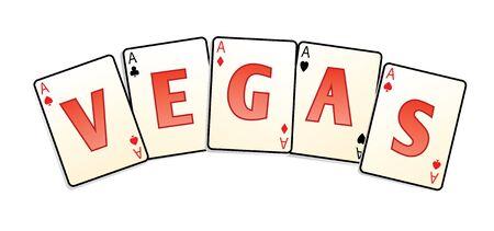 Vegas-Karten im Vektor isoliert Standard-Bild - 4408235