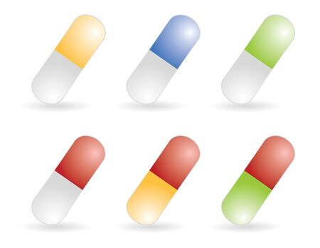 color pills in vector mode photo