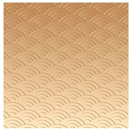 oriental vector: gold oriental texture in vector