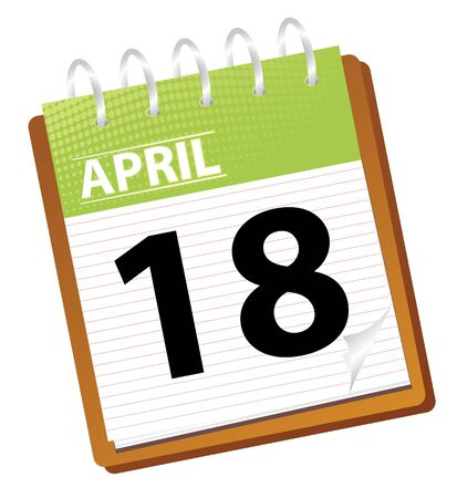 calendar april in vector mode photo