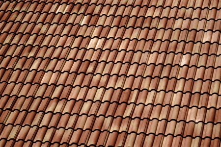 brown tile roof in house photo