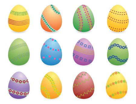 easter eggs set with 12 photo