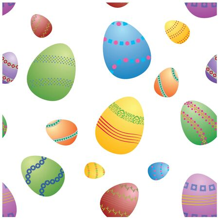 easter eggs texture in vector photo