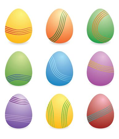 easter eggs set with 9 Stock Photo - 4585299