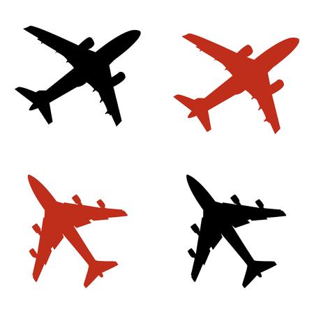 Avión iconos en modo vectorial Foto de archivo - 4632443