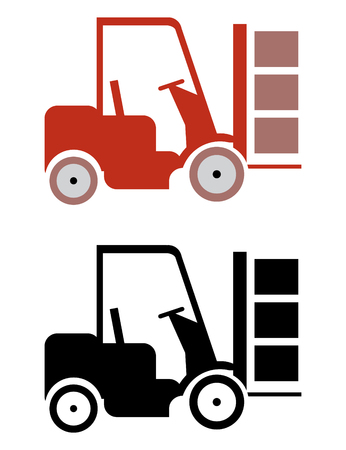 machine operator: two lifter icons in vector mode