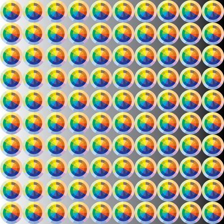 chromatique: Cercle chromatique texture en mode vectoriel