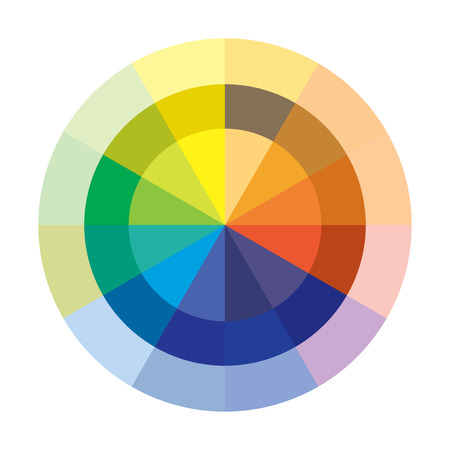 chromatique: Cercle chromatique en mode vectoriel