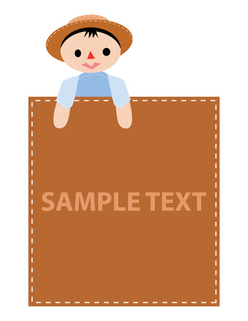 boy advertise in vector mode sample text Stock Vector - 4672478
