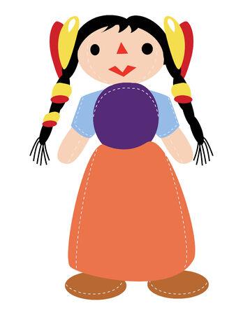 latin doll girl in vector mode Stock Vector - 4672476