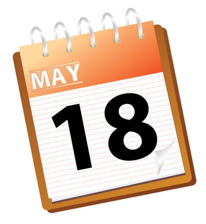 calendar: calendar may in vector mode Illustration