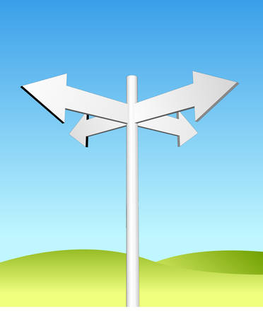arrows sign in green land